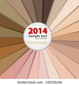 Color palette The skin colors vector 2014