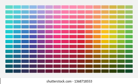 Color palette. Table color shades. Color harmony. Trend colors. Vector illustration