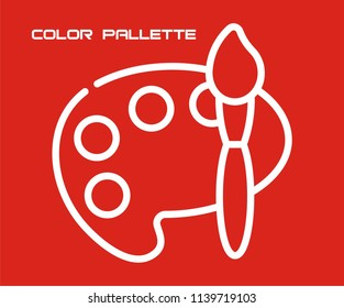 COLOR PALETTE VECTOR ICON