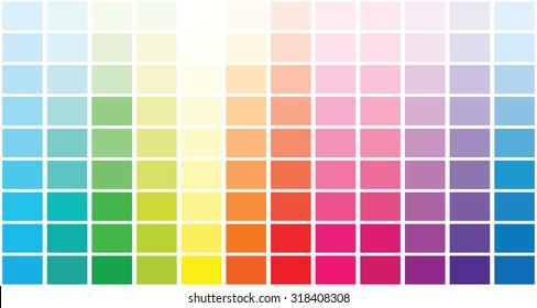 Color palette . Vector illustration