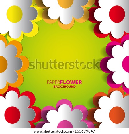 Color paper flowers cutout background eps 10 stock vector royalty color paper flowers cutout background eps10 vector illustration mightylinksfo