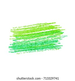 Color pencil crayon strokes isolated on white. Hand drawn pastel chalk stroke background. Vector kids hand painting texture design element.