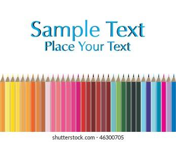 color pencil pallete, illustration