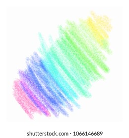 Color pencil stroke. Kids hand drawn element. Grunge element for paper design. Banner for text