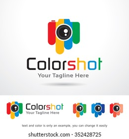 Color Photography Logo Template Design Vector