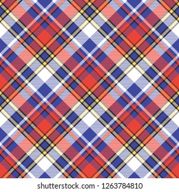 Color plaid seamless pattern. Vector illustration.