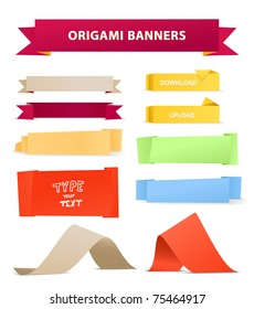 Color polygonal origami ribbons. Place your text here