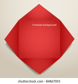 Color polygonal paper envelope. Place your text here