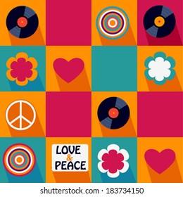 color pop art musical pattern