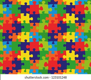 Color puzzles vector background and texture