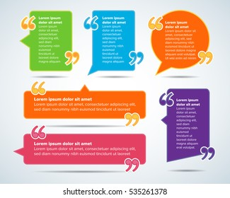 color quote blank templates quote bubble stock vector royalty free