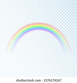 Color Rainbow. Spectrum of light, seven colors. Vector illustration isolated on transparent background