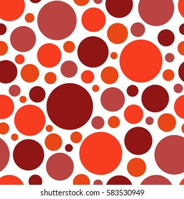 Color red circle. chaotic pattern circle. Seamless pattern.