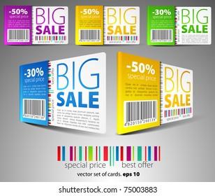 Color sale cards
