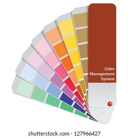 Color samples to determine preferences in the printing industry. Vector illustration.