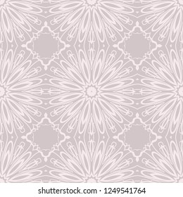 color seamless lace pattern with abstract geometric flower. Stylish fashion design background for invitation card. illustration