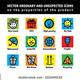 Color set icons properties of products