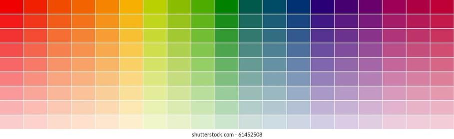 color shade chart