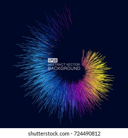 Color short line composition luminous abstract background