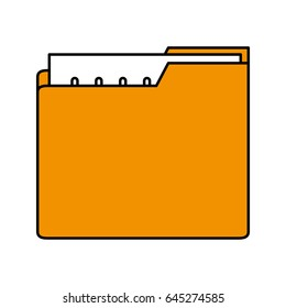 color silhouette image of folder with files sheet