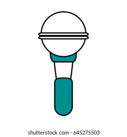 color silhouette image of wireless hand microphone