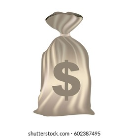 color silhouette with money bag of bank closed vector illustration