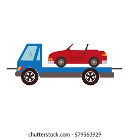 color silhouette with tow truck