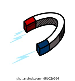 Color sketch of a magnet