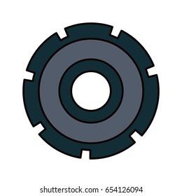 color sketch silhouette gear wheel icon vector illustration