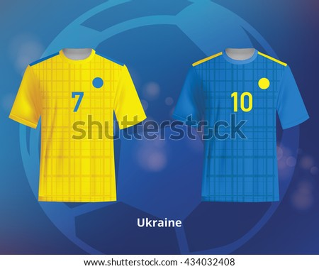 d65f9c755 Royalty-free stock vector images ID  434032408. Color soccer T-shirts of  Ukraine. Football team equipment - Vector