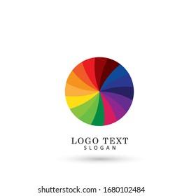 Color Spectrum Circle Logo. Symbol & Icon Vector Template.