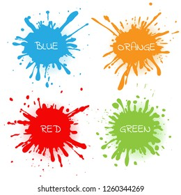 Color splashes set.Abstract splash banners.