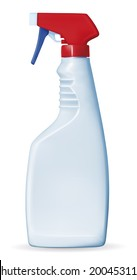 Color Spray Bottle - Illustration EPS-10