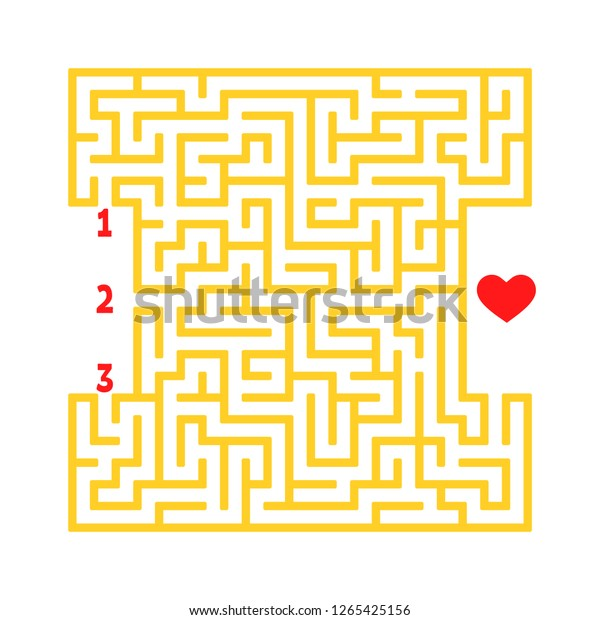 Color Square Maze Game Kids Puzzle Stock Vector Royalty Free 1265425156