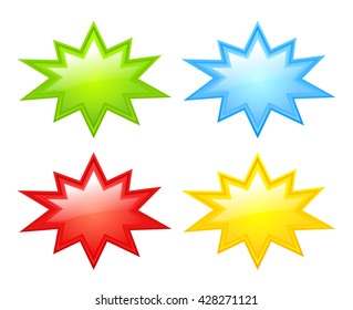 Color stars icon vector illustration isolated on white background
