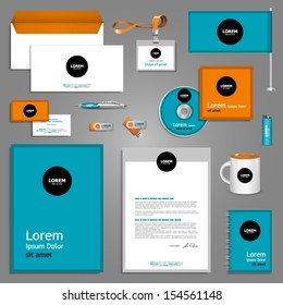 Color stationery template design. Documentation for business.