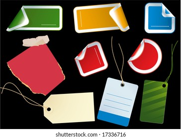 Color stickers. Vector.