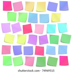 The color sticky notes set