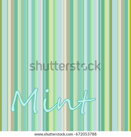 Color Strips Color Palette Mint Stock Vector Royalty Free