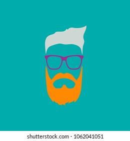 Color stylish graphics - danger signs hipster