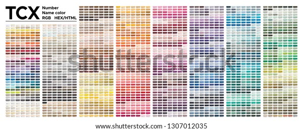 Color Table Pantone Of The Fashion, Home And Interiors Colors. Color  Palette With Number