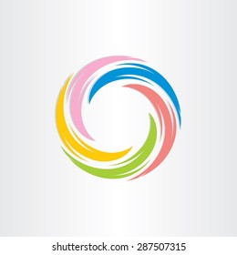 color tornado spiral abstract background design