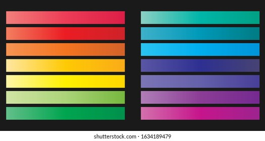 Color trend 2020. Modern pallete of flat design. An example of a color palette. Forecast of the future color trend. Neutral color. Vector graphics. Eps 10.
