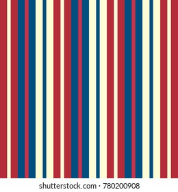 Color usa  style seamless stripes pattern. Abstract vector background.