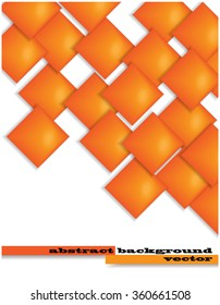 color vector background with gradient orange squares