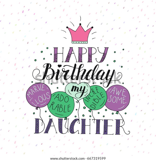 Fine Color Vector Birthday Card Daughter Unique Stock Vector Royalty Funny Birthday Cards Online Inifodamsfinfo