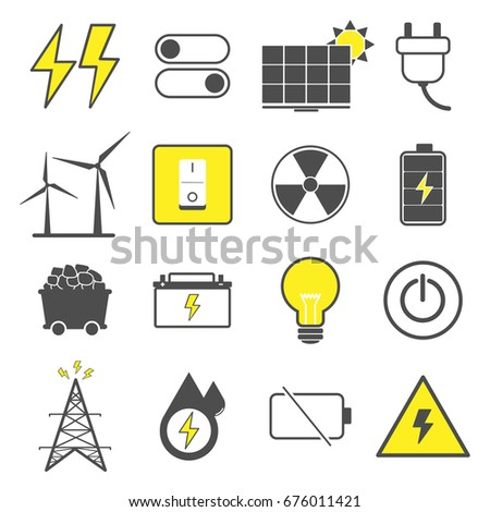 Color Vector Electric Power Source Such Stock Vector Royalty Free