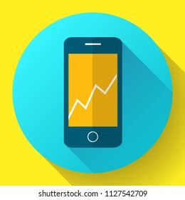 Color vector flat mobile phone icon