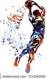Vektorillustration der Basketballspieler