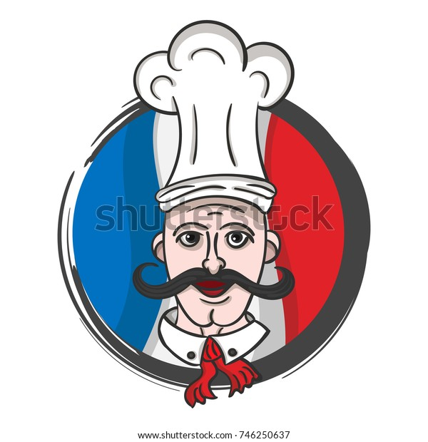 Color vector illustration of a chef.